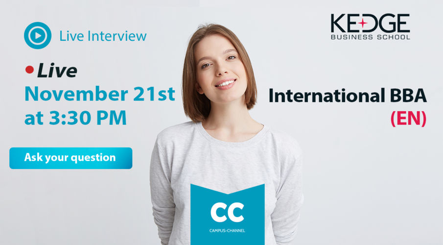 Live Campus Channel International BBA in english 21 novembre 2019