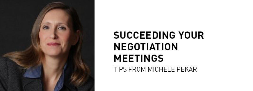 Michele Pekar: succeeding negotiation meetings - KEDGE